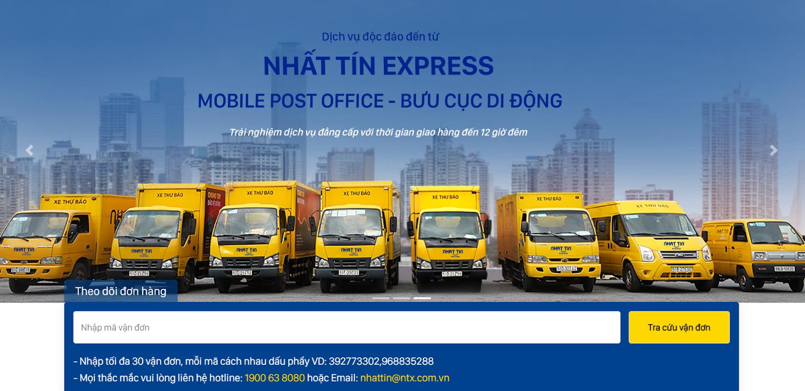 truy cập trang chủ NTX để tra cứu chuyển phát nhanh vận đơn