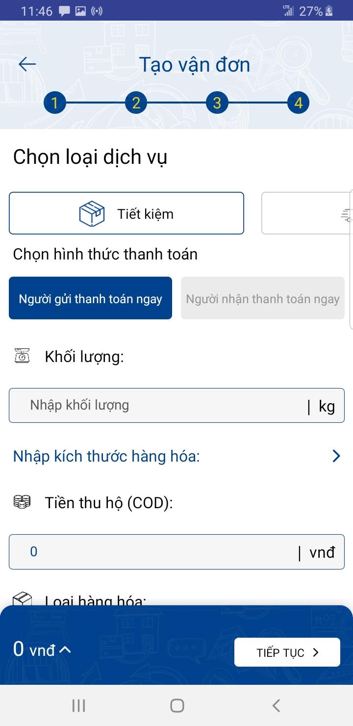 Hướng dẫn cách tạo vận đơn trên ứng dụng ship hàng Nhất Tín Express