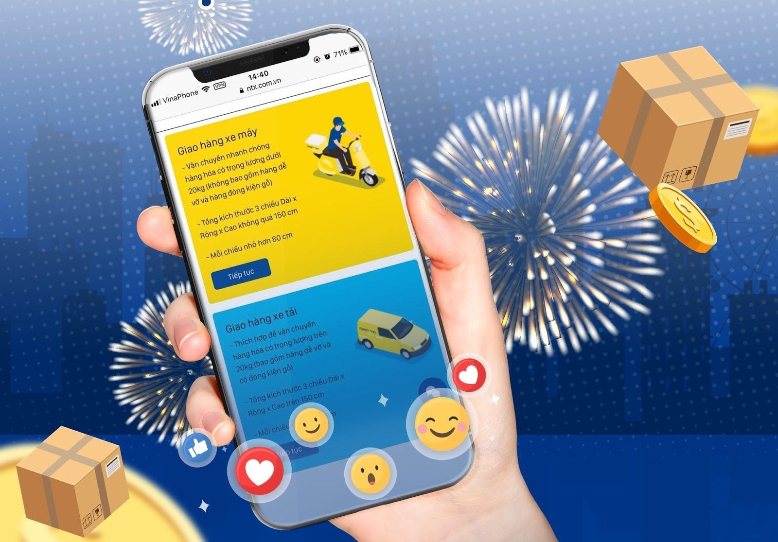 Cách tạo đơn giao hàng express nhanh chóng với ứng dụng Nhất Tín Express