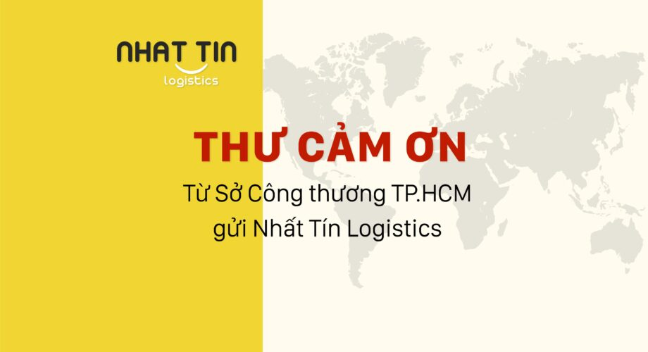 Thư cảm ơn từ Sở Công Thương TP.HCM gửi Nhất Tín Logistics